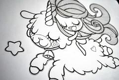 Borreguito (Anita Mejia) Tags: tattoo illustration stars magic estrellas lamb unicorn borreguito cordero chocolatita anitameja