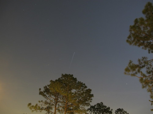 The International Space Station Passes Over Houston, Texas