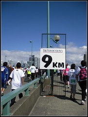 Almost There (Mark Faviell Photos) Tags: sun vancouver creek spring bc run april sunrun runners false 9km