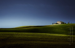 under the tuscan sun () Tags: blue sky italy verde green andy farmhouse landscape italia blu andrea hill andrew val cielo tuscany cypress toscana paesaggio colline collina casale dorcia benedetti cipresso d7000