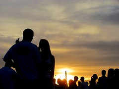 Love in the Sunset (Lucyrk in LA) Tags: sunset sky people music orange woman sun man love nature silhouette festival outside outdoors person photography photos silhouettes lovers coachellavalley april coachella lover laist 2011 coachellavalleymusicfestival lucyrkinla