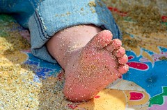 Happy Foot (Images by John 'K') Tags: baby beach foot sand granddaughter halfmoonbay ashlyn johnk poplarbeach d7000 ashlynelizabethmary johnkrzesinski randomok