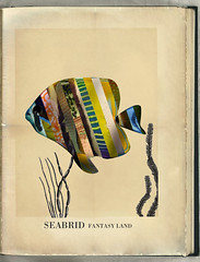 seabrid (it's a spiral) Tags: bird collage illustration vintage paper typography book retro aged hybrid didot