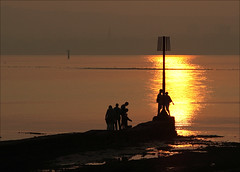 The family outing (Vab2009) Tags: beach lowtide beacon holywood countydown belfastlough