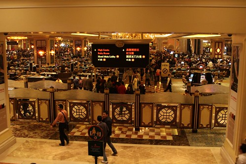 Gaming floor of The Venetian Macau casino