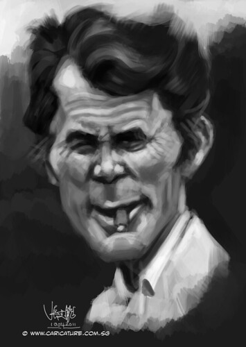 digital caricature of Jack Palance - 1