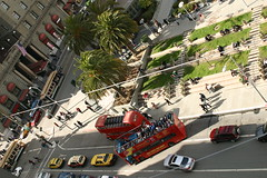 Buzzing Union Square (earl.angus) Tags: sf sanfrancisco california street photography unionsquare topview