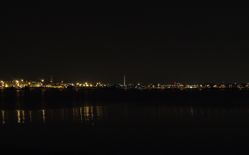 Washington DC skyline, Powtomack Landing view, VA