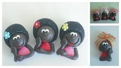 Namoradeiras!!!! (Danielle Puglielli - Biscuiteria) Tags: de biscuit preta boneca bonequinhas ima ímãs fria porcelana lembrancinha lembrancinhas namoradeira biscuiteria