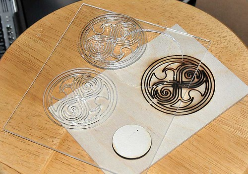 Shiny things made with the laser cutter