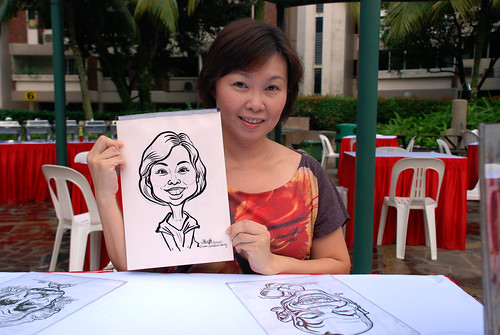 caricature live sketching for birthday party 16042011 - 3