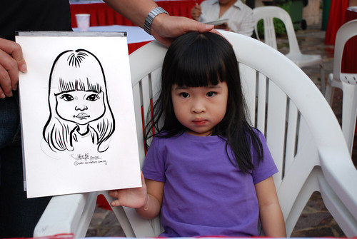 caricature live sketching for birthday party 16042011 - 7