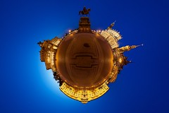 After the Opera (boris.boesler) Tags: panorama germany deutschland dresden zwinger saxony sachsen theaterplatz hofkirche semperoper stereographic hugin kugelpanorama littleplanet ultimateproomnipivot