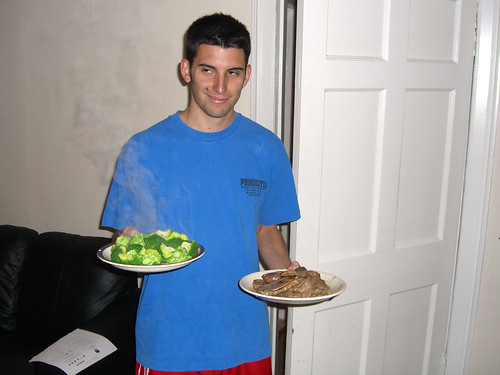 Jacob serves dinner