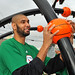 NBA San Antonio Spurs Star Tim Duncan at a KaBOOM! Playground Build in Los Angeles