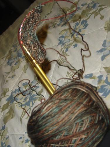Homin shawl in Ella Rae