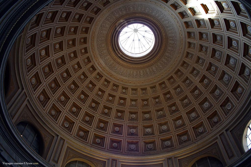 Dôme de la Salle Ronde, directement inspiré du Panthéon