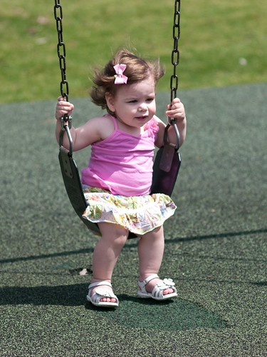 Swinging in the sun