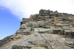 西穂-天狗岳の岩場