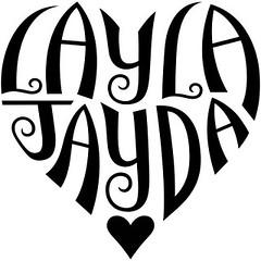 """Layla"" & ""Jayda"" Ambigram"