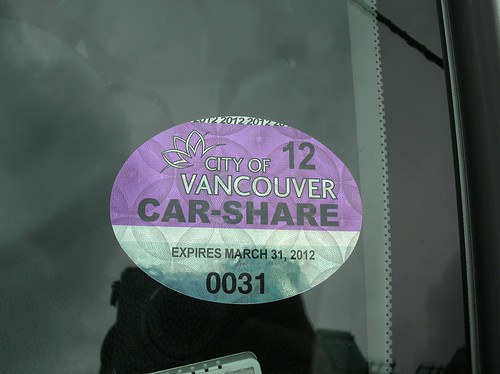 City of Vancouver Car-Share decal