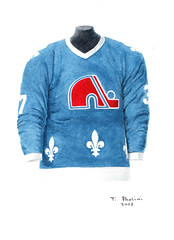 Quebec Nordiques 1984-85 jersey artwork (Scott Sillcox) Tags: art heritage history hockey vintage nhl artwork uniform jersey collectible throwback coloradoavalanche quebecnordiques originalsportsart