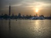 Smoggy Sunset over Cairo Tower and The Nile (Mohamed Abdel Samad) Tags: sunset landscape egypt cairo hdr thenile cairotower doublyniceshot mygearandme mygearandmepremium mygearandmebronze mygearandmesilver ringexcellence dblringexcellence