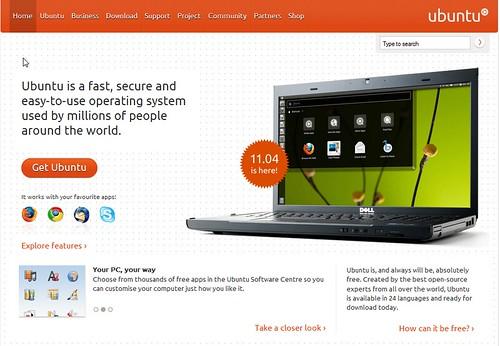 Copie d'écran du site Ubuntu.com