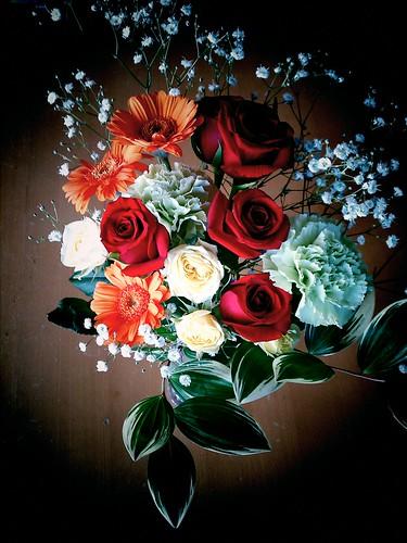 PStTVでいただいた花束