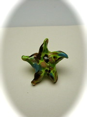 Starfish Bead 2 (SimplP) Tags: ocean fish green art glass star torch bead lampwork pendant frit flamework hotglass torchwork softglass
