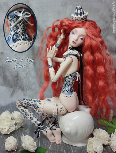 Little lace doll – `Pierrot`