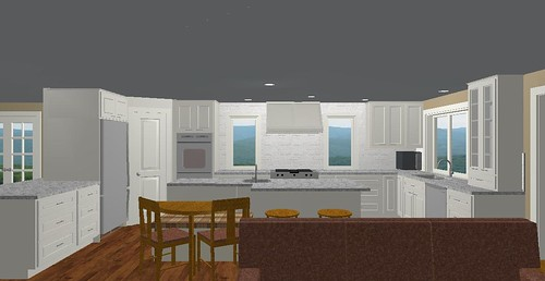 Kitchen all white cabs and Carrara
