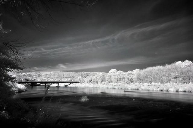 Manawatu River in Infrared 850nm