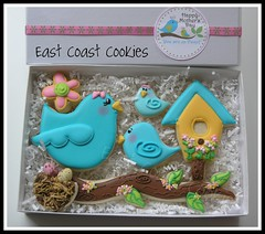 'Mom, You're so Tweet' cookie gift box (East Coast Cookies) Tags: bluebird giftbox decoratedcookies mothersdaycookies birdcookies littlebluebirds sotweet