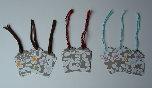 Recycled Kleenex Box Gift Tags