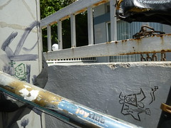 kufsonim- kufsoshor and one eye kufs (kufsened) Tags: street urban art love up fun israel stencil side down hardcore  ultra  brute tlv nigger perspectiv 2011   funki sened   rispect kufsonim  senseion