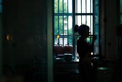 (thisisforlovers) Tags: window kitchen girl contraluz ventana 50mm solitude loneliness chica darkness cocina silueta f18 18 lowkey tabacalera nikond60 clavebaja backlightes