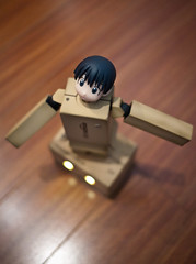 (greenplasticamy) Tags: lumix japanese robot amazon box mini panasonic cardboard micro 20mm 43 kaiyodo miura yotsuba danbo amazoncojp gf1 mft revoltech hayasaka enjoyeverything danboard micro43 microfourthirds minidanboard minidanbo miurahayasaka dmcgf1