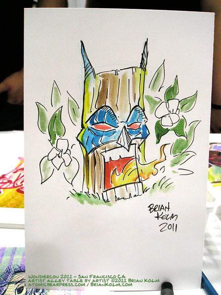 Wondercon 2011 commision art by Brian Kolm