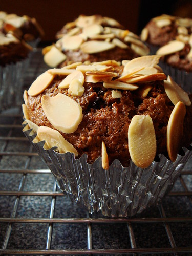 Mocha Fig Muffins with Almonds