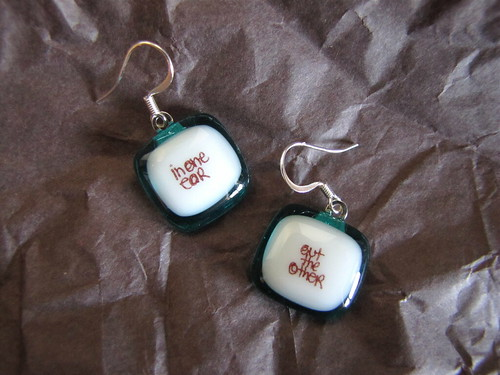 Fun earrings from D.I.Y.