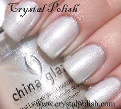 China Glaze Frosty (CrystalPolish) Tags: white frosty shimmer chinaglaze tistheseasontobenaughtyandnice