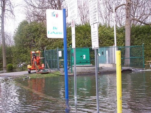 Pompe auxiliaire, inondations en Montérégie
