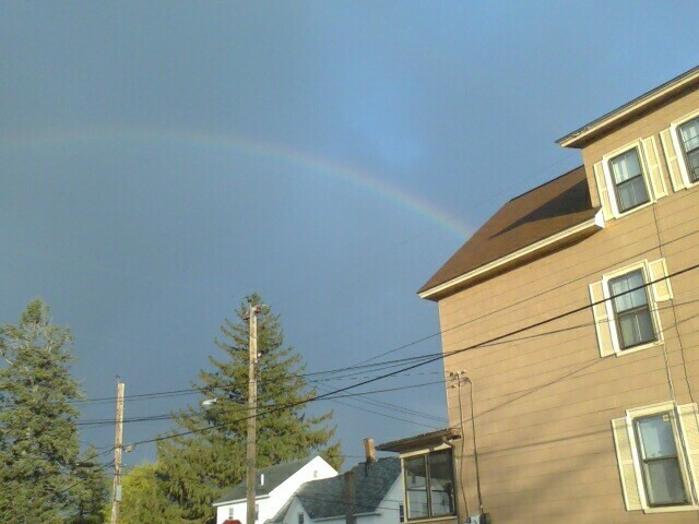 Rainbow at Steve's house...