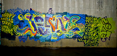 Jeans (TheHarshTruthOfTheCameraEye) Tags: happy graffiti bay day cancer prince fresh jeans moms crew carl area nasty kure brims bumr