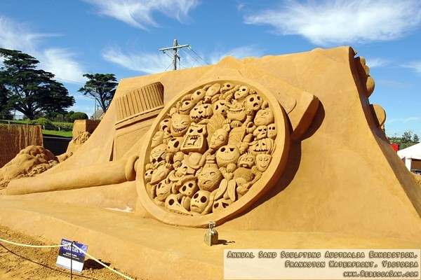 Annual Sand Sculpting Australia exhibition, Frankston waterfront-19