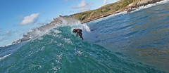 tubed ! (bluewavechris) Tags: ocean sea sun water fun hawaii surf action surfer tube barrel wave maui surfboard thebay swell honoluabay honolua