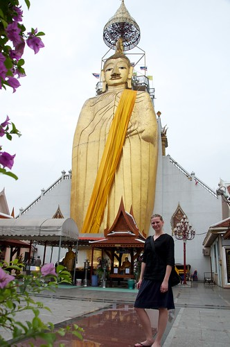 Me, at the Standing Buddha, Bangkok 2011 12