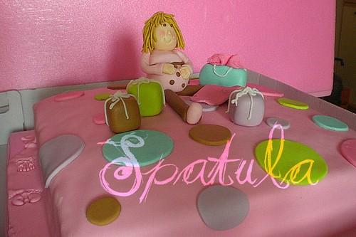 Hamile Kadın Pastası - Baby Shower by Demetin spatulasi