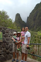 Family with the Iao Needle